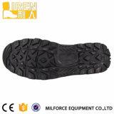 黒い牛革軍の戦闘用ブーツ
