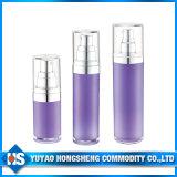 A loção plástica cosmética engarrafa o frasco mal ventilado cosmético chapeado ouro do frasco 15ml da bomba