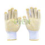 Gant de travail en coton pointillé PVC de bonne qualité et à faible prix