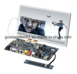 """Moniteur industriel LCD à écran tactile de 8 """"avec entrée AV VGA"""