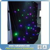 O clube de noite Olá!-Fresco decora a cortina da estrela do diodo emissor de luz
