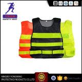 Colete de segurança de vestuário de trabalho negro para a polícia EN20471