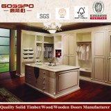 Подгонянный шкаф спальни твердой древесины (GSP9-012)