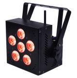 1개의 무선 건전지 LED 동위에 대하여 6PCS 15W RGBWA 5