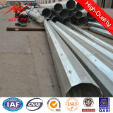 10m 500dan Galvanized Steel Electric of poles for power transmission