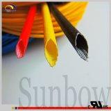 Sunbow UL1441 Scheuerstelle widerstehen dem flammhemmenden Silikon-Fiberglas, das Sb-SGS-15 Sleeving ist