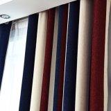 Tissu moderne de rideau en jacquard d'arrêt total de Chenille de pistes verticales de type (06F0031)