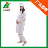 実験室帯電防止ESDのクリーンルームの安全作業縞まっすぐなカラースモックのつなぎ服