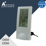 Resistente a temperatura interior e exterior transparente Relógio de desktop com fio
