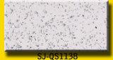Bancadas brancas de quartzo da galáxia do tipo artificial e do formulário grande da pedra da laje