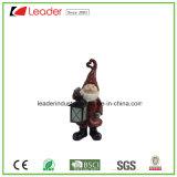 Houder van de Kaars van het Beeldje van de Kerstman van Kerstmis van Polyresin de Decoratieve voor de Decoratie van het Huis