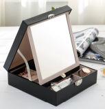 [سليد كلور] [مولتيفونكأيشن] مستحضر تجميل صندوق [جولري بوإكس.] مبتكرة خشبيّة