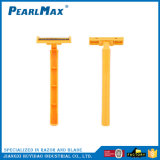 Лезвия близнеца цены фабрики бритва Disposbale ручки сразу дешевого пластичная