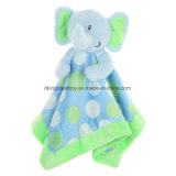 En71証明のかわいいプラシ天の動物のおもちゃの赤ん坊の慰める人毛布