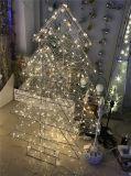LED 3D Cone Motif Curtain Light Décoration de Noël