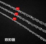 Collar de la langosta cadena de acero de titanio joyas de moda 2,5 mm 3,0 mm 3,5 mm