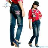 Jeans diritti del nuovo di stile denim di stirata per le ragazze dai jeans della mosca