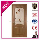 Portes en bois/intérieures de PVC chaud de vente de peinture en verre