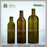 botella de cristal verde oscuro del aceite de oliva de 250ml 500ml con el casquillo de aluminio (NA-047)