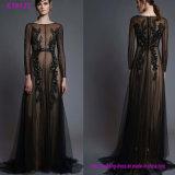 Abend-Kleid der Form-handgemachten reizvollen Chiffon- Frauen