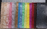 Couro sintético do teste padrão novo da serpente do projeto para o vestuário, sapatas, decoração, sacos. (HS-Y28)