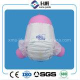 couche-culotte de pointe de bébé de grande taille élastique de faisceau suspendue par 3D