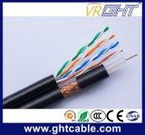 Multimedia con cable coaxial RG6 4p de red UTP Cable Cat5e