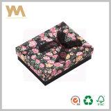 Bijoux d'impression personnalisée emballage cadeau encadré avec ruban