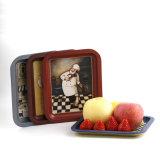 錫のフルーツキャンデーの菓子のデザートの軽食の皿の版