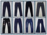 calças de brim de mulheres pretas do vintage 7.9oz (HYQ115T)