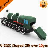 철도 선물 (YT-6668)를 위한 유일한 PVC 3D 주문 트레인 USB Pendrive