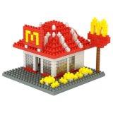 Installationssatz-Thema-Gaststätte-Serien-Bausteine des Block-14889313-Micro stellten kreatives pädagogisches DIY Spielzeug 230PCS - Kfc ein