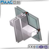 Perfil de aluminio de la pared de cortina de 6060 aleaciones