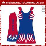 2017人のセクシーな卸し売り安い女性の昇華印刷の顧客用ネットボールの服(ELTNBJ-48)
