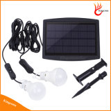 6V Panel Solar Powered LED Solar solar lámpara de luz al aire libre con lámpara de 2
