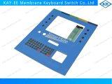 Metallabdeckung ESD-Schild-Membranschalter-Tastatur mit transparentem schwarzem Fenster