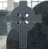 Headstone azul da cruz celta do granito de Bahama