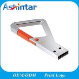 Привод вспышки USB формы USB Pendrive металла Keyring миниый ключевой