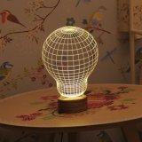 Lumière de nuit d'illusion de la coutume DEL 3D