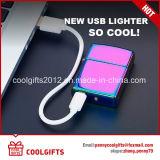 Лихтер электрической индукции дуги Windproof лихтеров USB Charning металла двойной