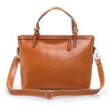 Sacchetto di Tote superiore femminile di modo dei sacchetti di spalla della maniglia della borsa di cuoio