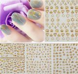 Autocollants en métal métallisé en 3D Autocollants pour ongles Autocollants pour ongles