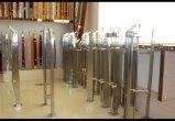 Barandilla de acero inoxidable Cristal Diseño Pilar