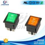 Interruptor de eje de balancín de autoretención del pulsador del color del Pin de la alta calidad Kcd4-101/N 6