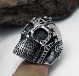 Zwarte van de Steen van het Roestvrij staal van de Ring van de Schedel van het Spook van het roer de Mannelijke