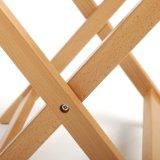 Het houten Vouwende Rek van de Bagage met Riemen (AWLR126)