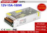 alimentazione elettrica di commutazione di video di obbligazione di 12V 15A 180W