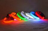 개 제품 나일론 두 배 Relfective LED 애완 동물 고리를 주문을 받아서 만드십시오