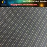 最も安く黒い袖のライニング、ポリエステル縞のスーツの袖のライニングファブリック(S29.30)