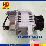 24V 35A 6D102 PC200-6のディーゼル機関キットの交流発電機
